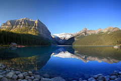 Photo of lake louise reflections alberta canada canadian rockies banff national park rocky mountains