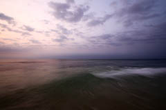 Photo of sunrise, ocean waves, reflections, playa del carmen mexico quintana roo